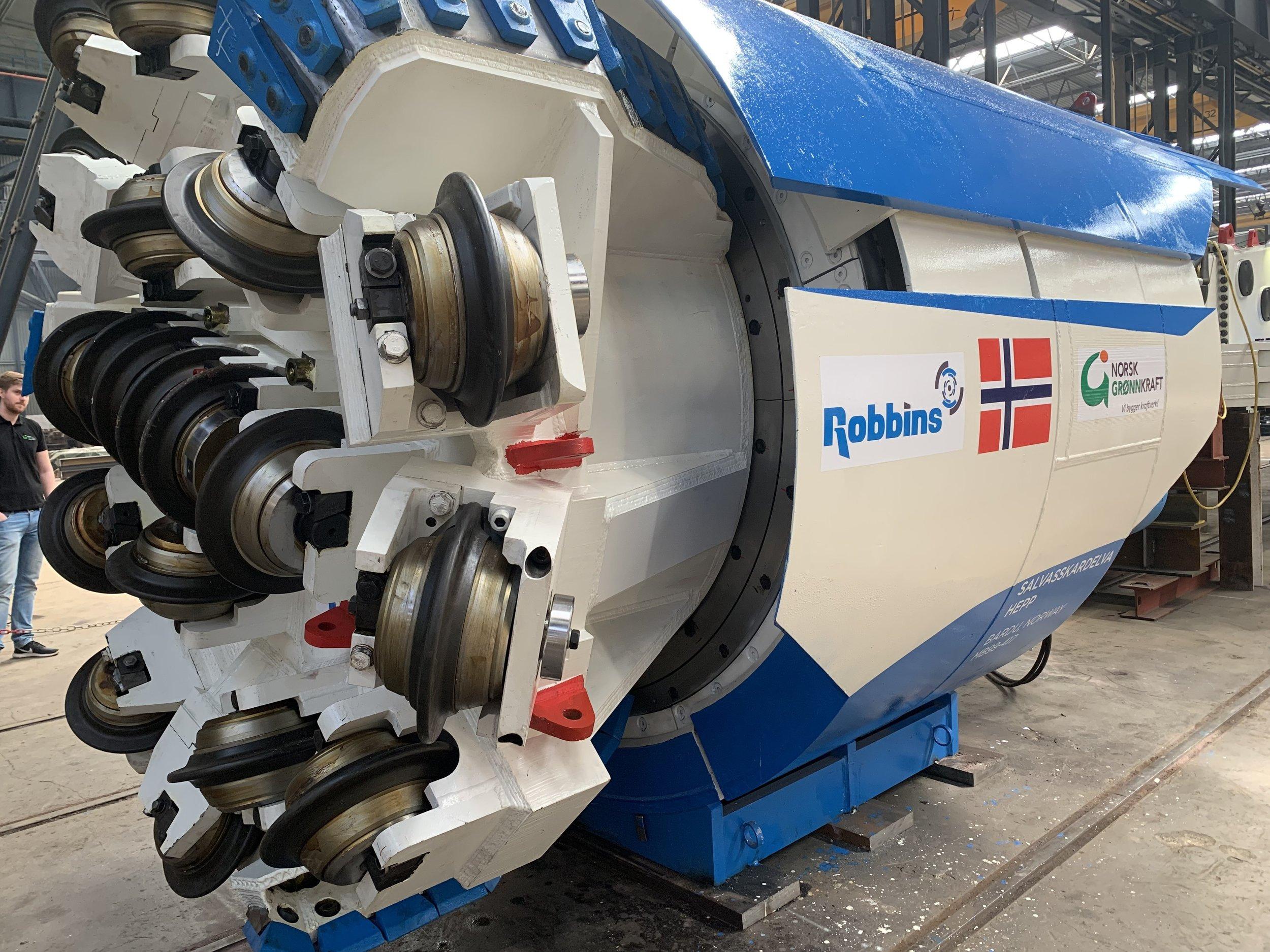 """TBM maskinken, også kjent som """"Snøhvit"""""""