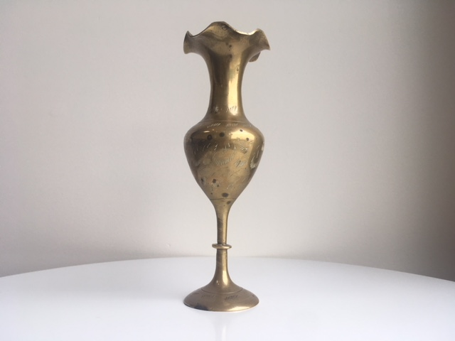Medium Brass Vase