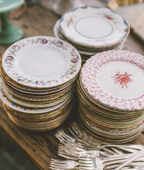 vintage china - Side plates, Tea Service, Vintage Cups and Saucers