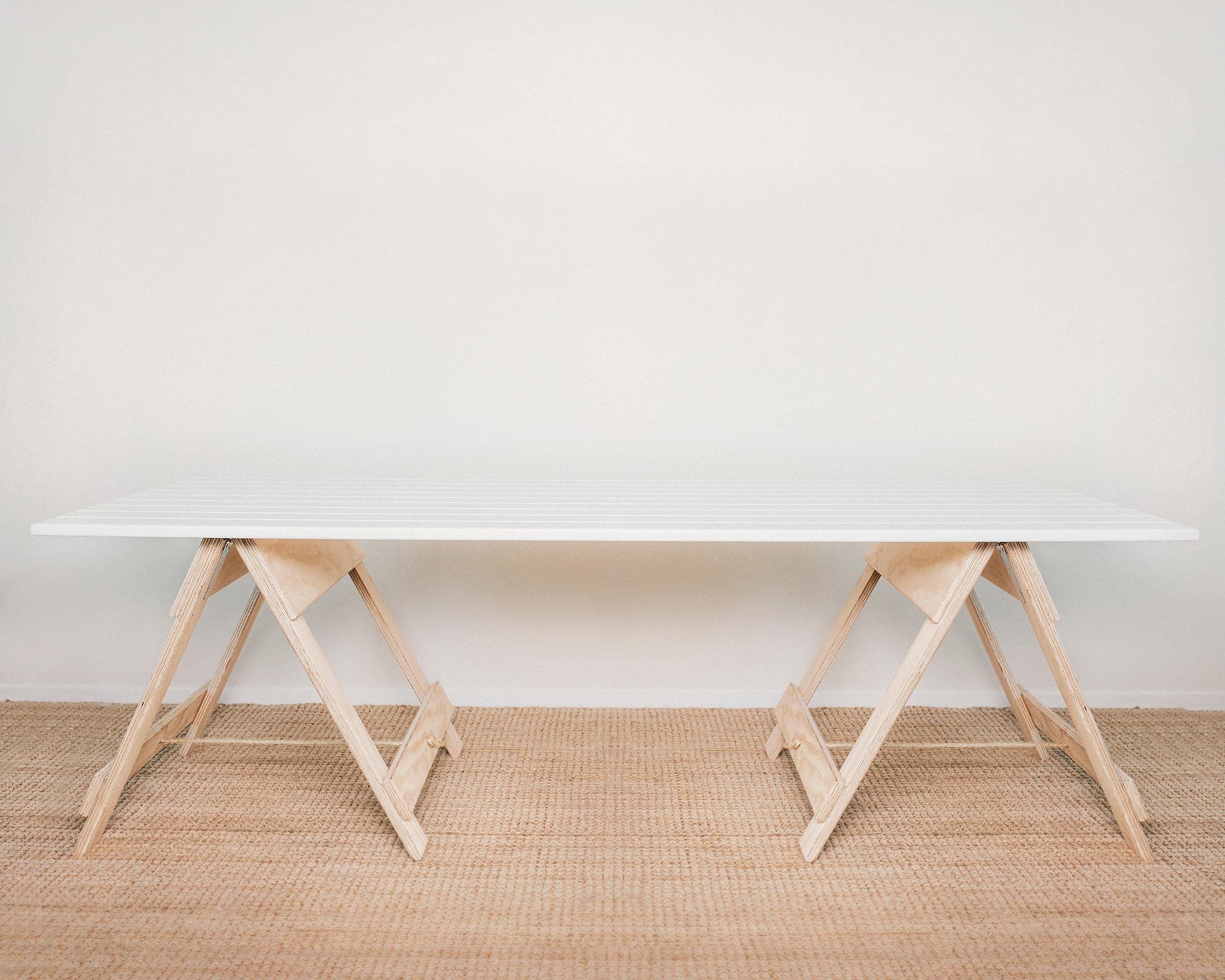 trestle tables -