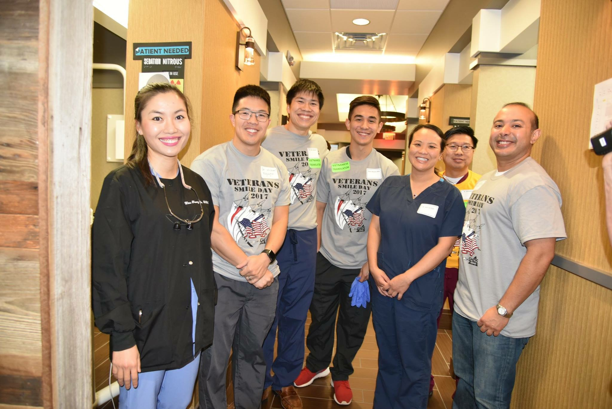 Dr. Do with the Veterans Smile Day Crew getting ready to treat patients.