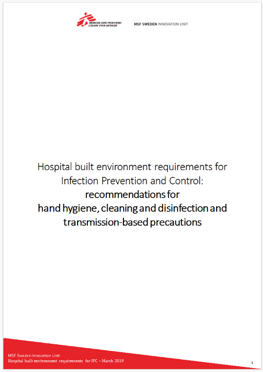 Hospital built environment requirements for infection prevention and control - Full Project Report    Download PDF >