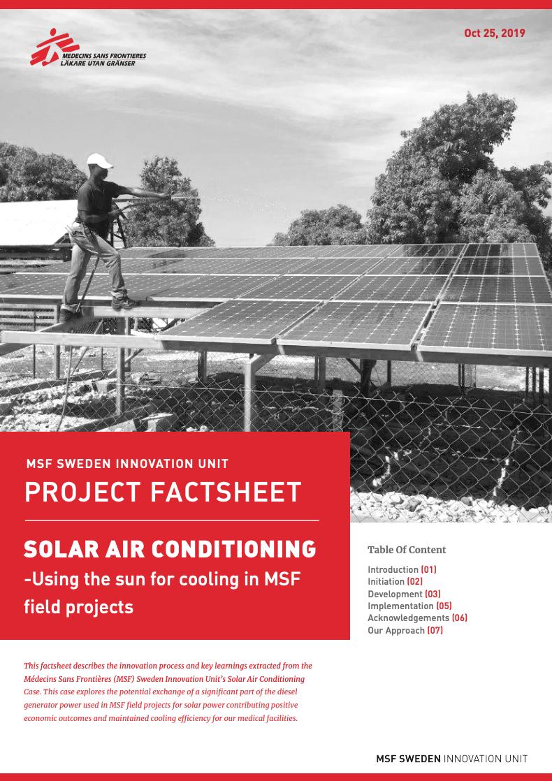 Solar Powered Air Conditioning Case Factsheet     Download PDF >