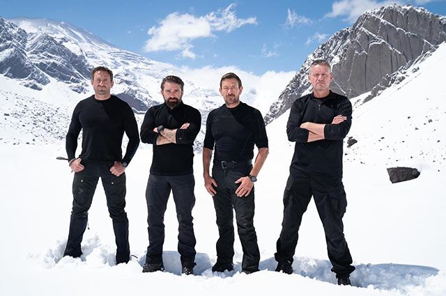 Who managed to catch these four in action again last night? Brilliant to see @ollie.ollerton back on our screens in an explosive start to series 4, with two candidates voluntarily withdrawing already and some testing challenges in snowy Chile 🏔 Tune in next Sunday at 9pm on @channel4. #SASWhoDaresWins #Channel4