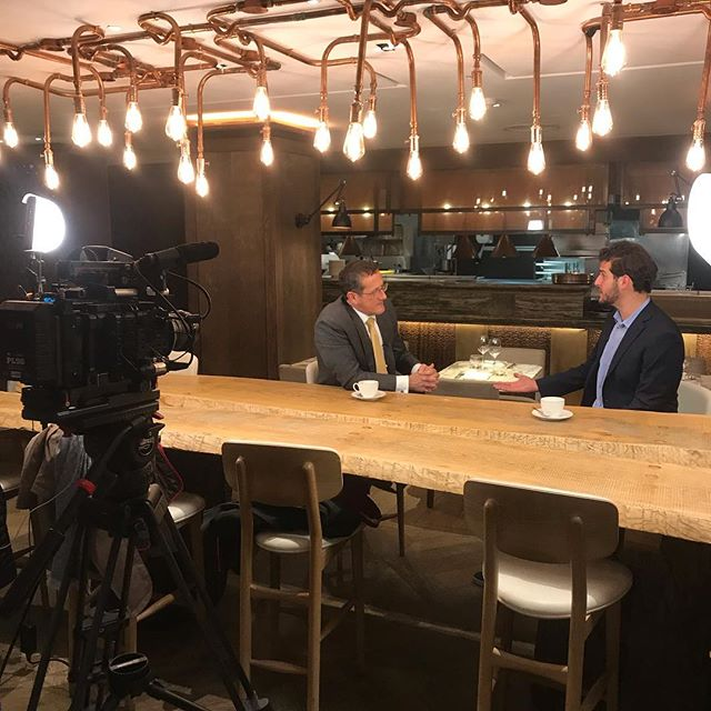 Was an absolute pleasure to meet CNN legend @questinny on Tuesday evening as he interviewed @jamesasquithtravel for an upcoming segment of CNN International's Business Traveller show. Very much looking forward to seeing how this one turns out! All the best for your upcoming travels, James! #CNN #RichardQuest #BusinessTraveller