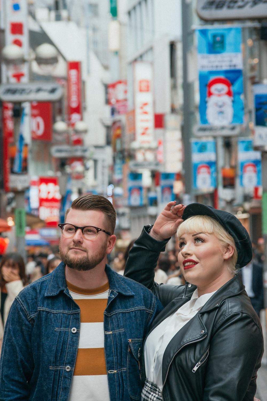 Couples photoshoot in Shibuya Tokyo
