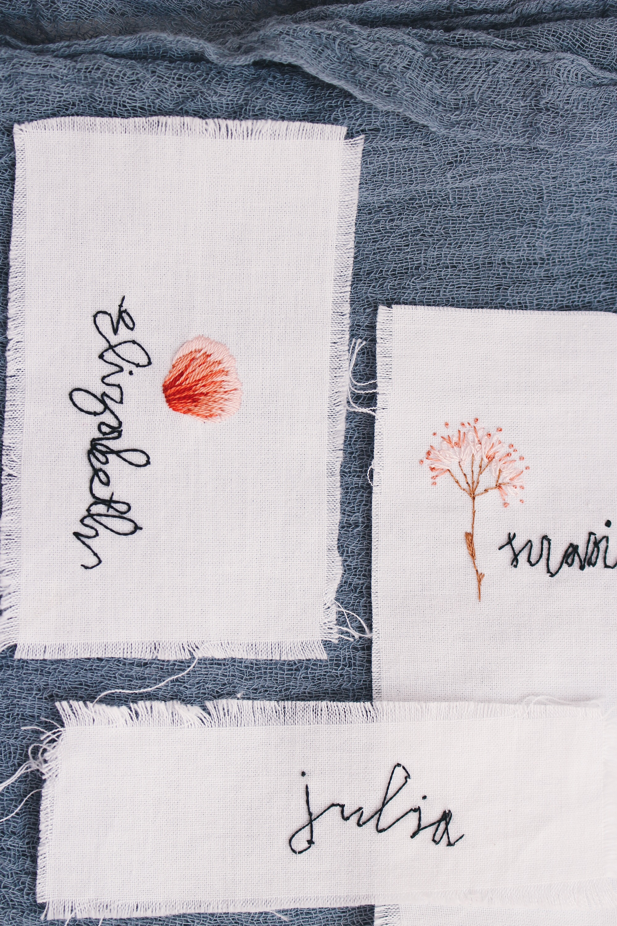 Wedding Embroidery - Ink & Thimble