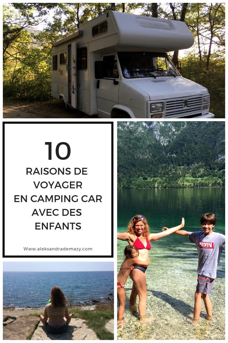 voyager en camping car avec enfants