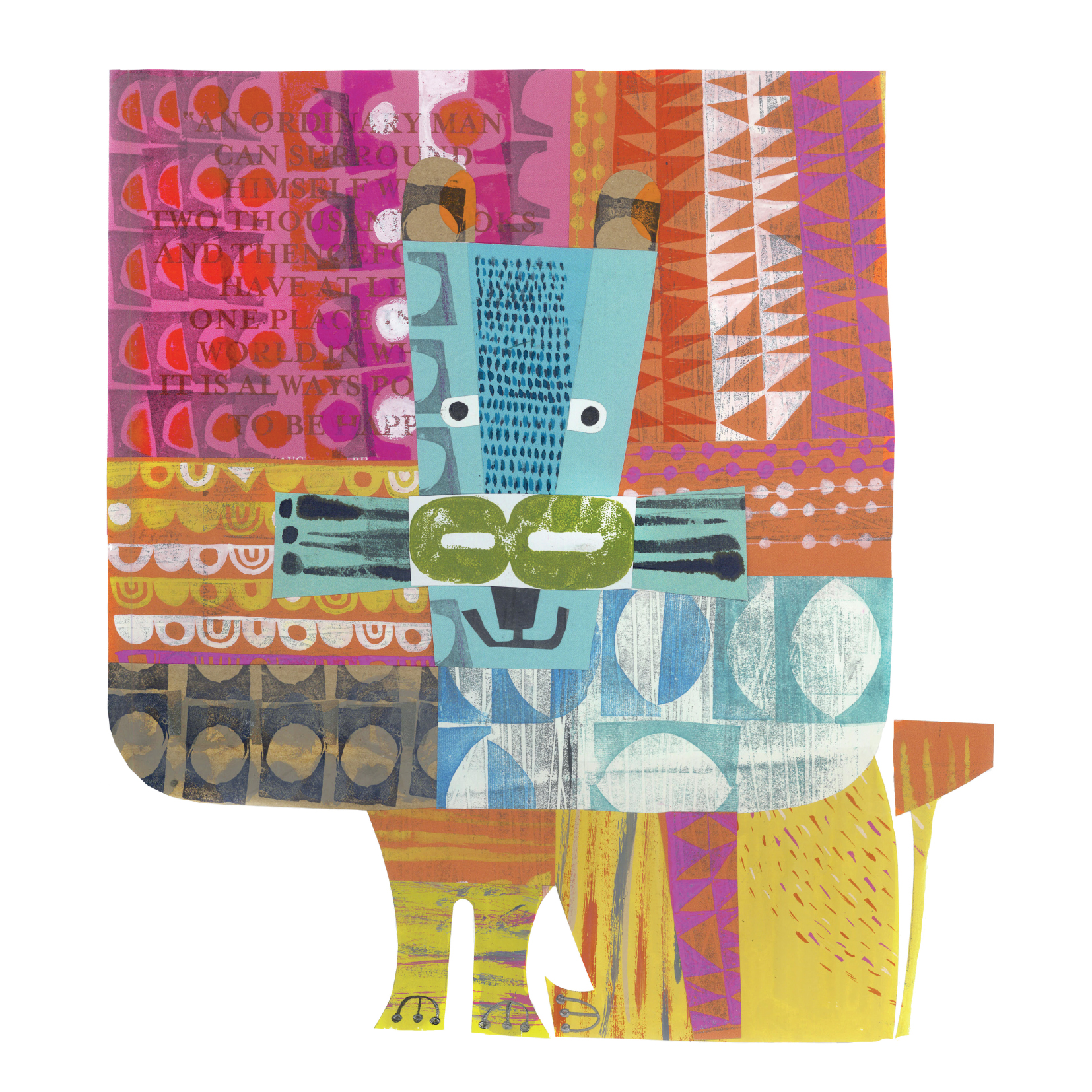 contented lion     SHOP    mixed media collage, available as a giclee print