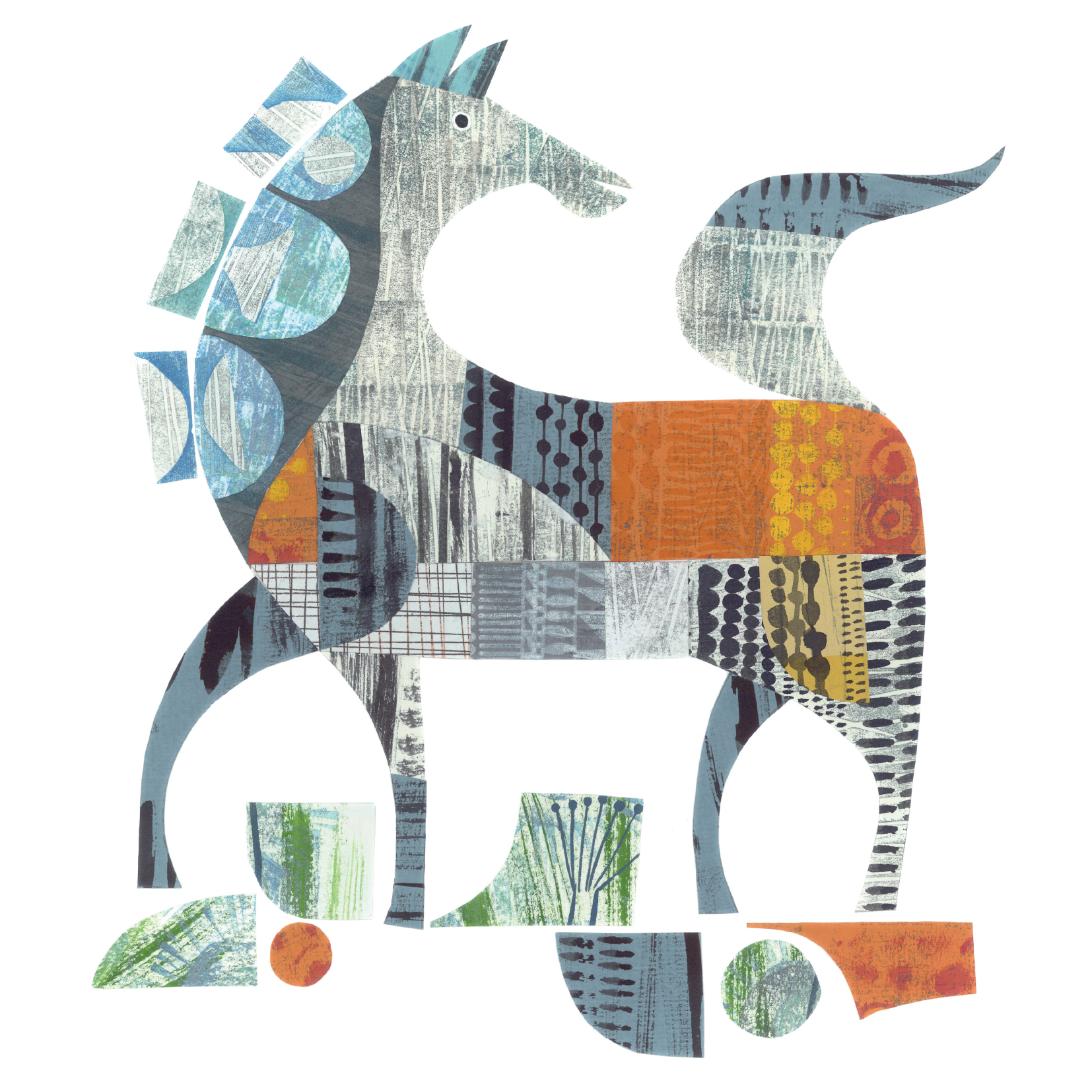 handsome horse     SHOP    mixed media collage, available as a giclee print