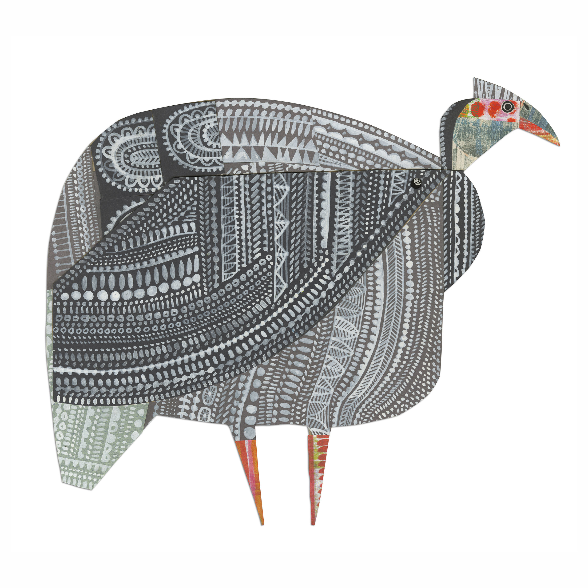 Guinea fowl   from forthcoming  animal parade  book