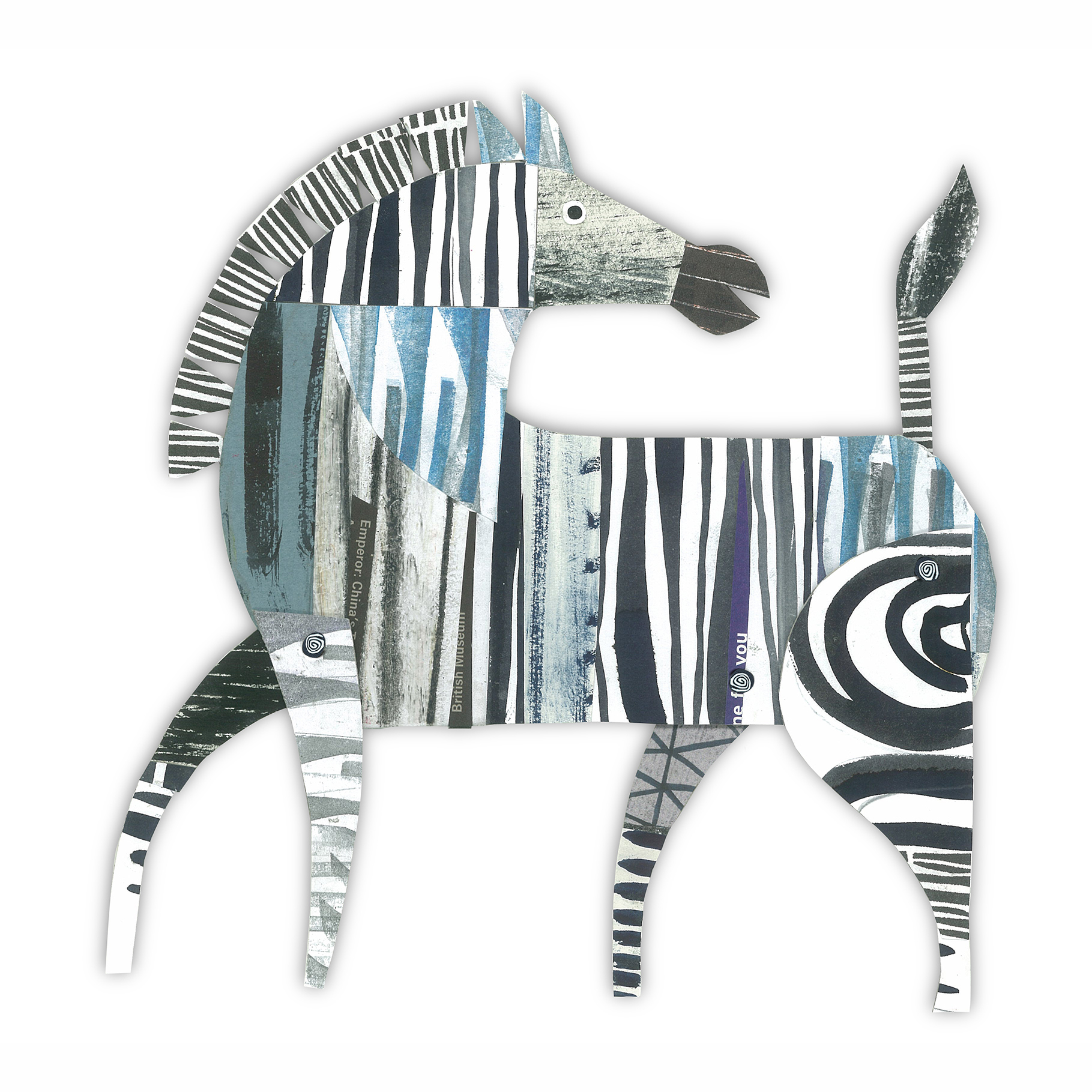 zebra   from forthcoming  animal parade  book