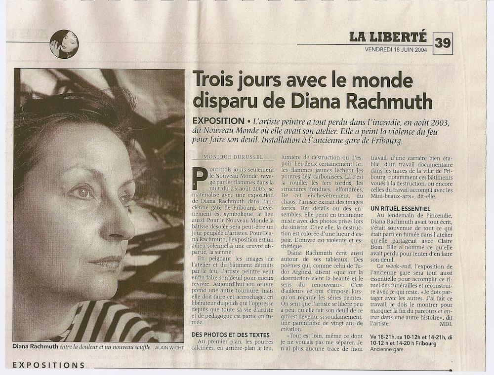 Article paru dans La Liberté - 18 juin 2004