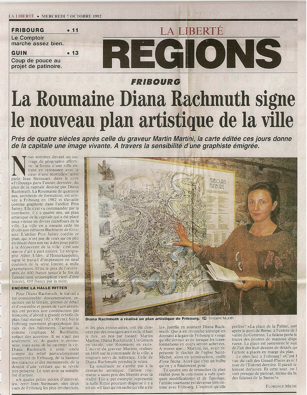 Article paru dans La Liberté - 7 octobre 1992