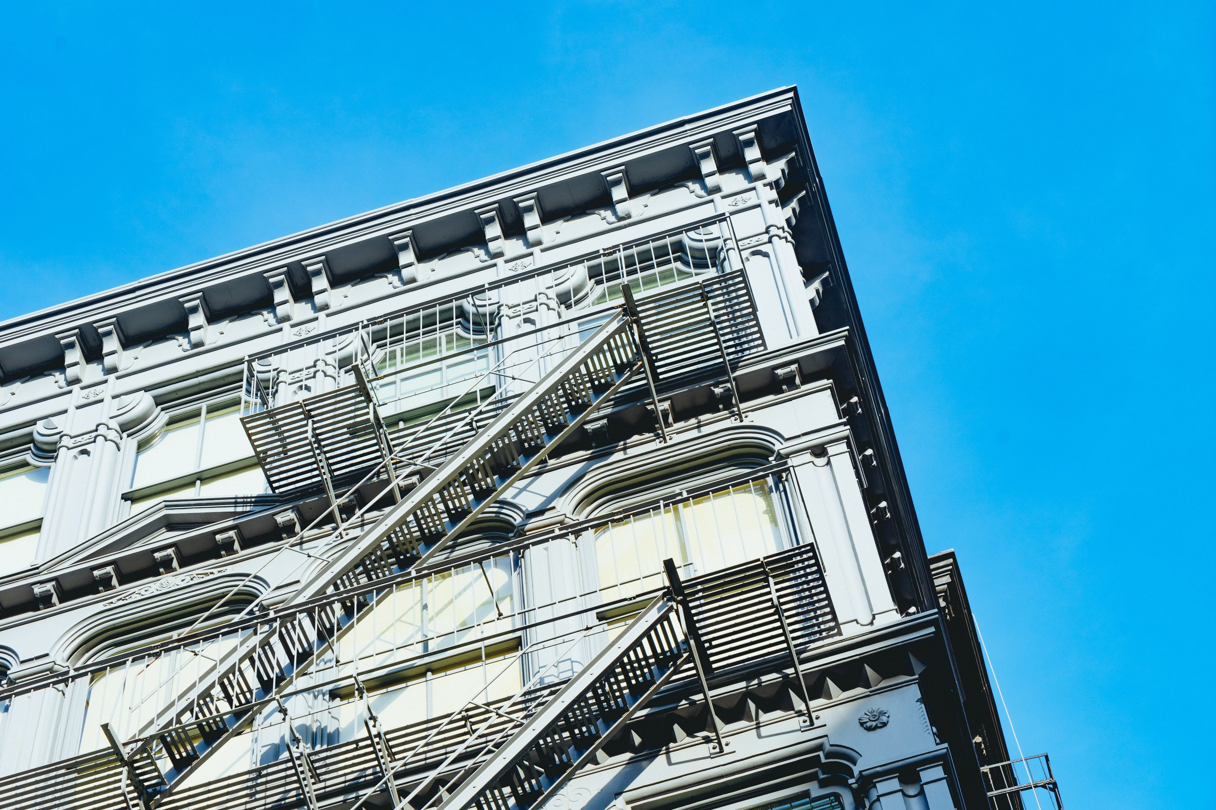 Forget climbing the career ladder, careers are a New York fire escape ladder.   Photo credit: Dan Gold