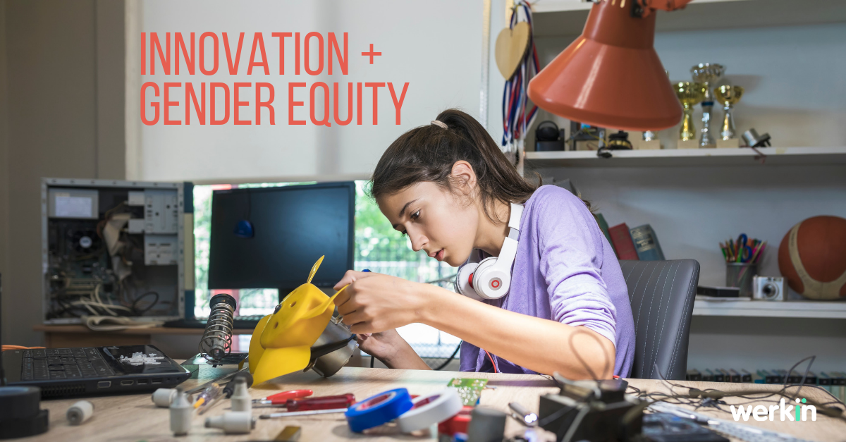 A girl in STEM builds technology