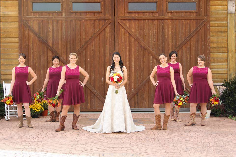 Barn Wedding Venue Bride Doors