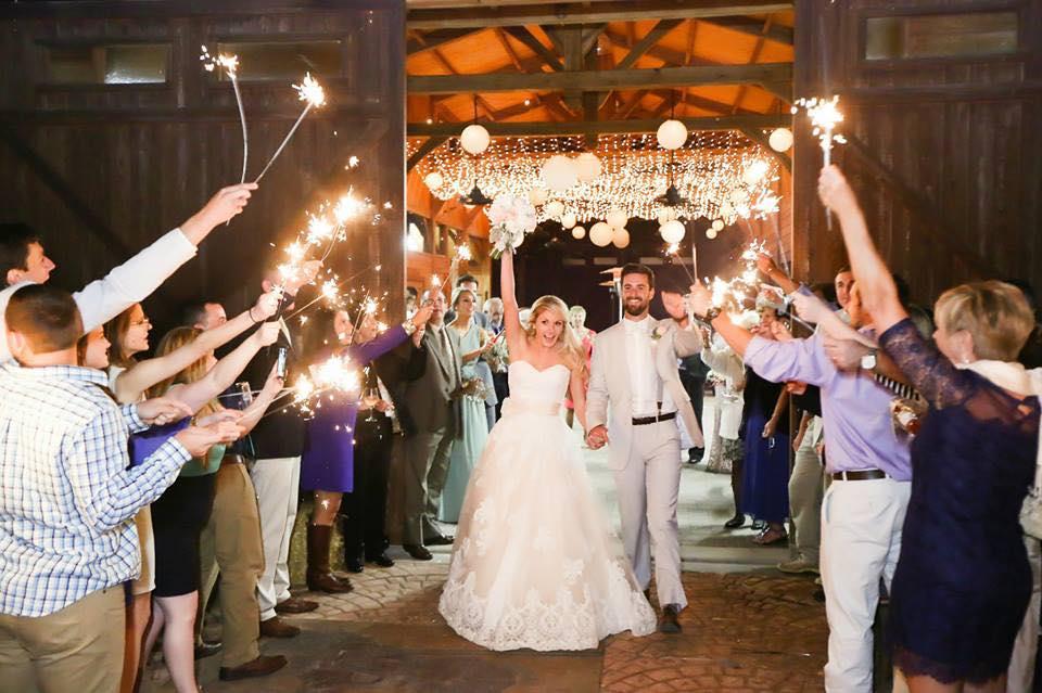 Barn Wedding Venue Sparklers