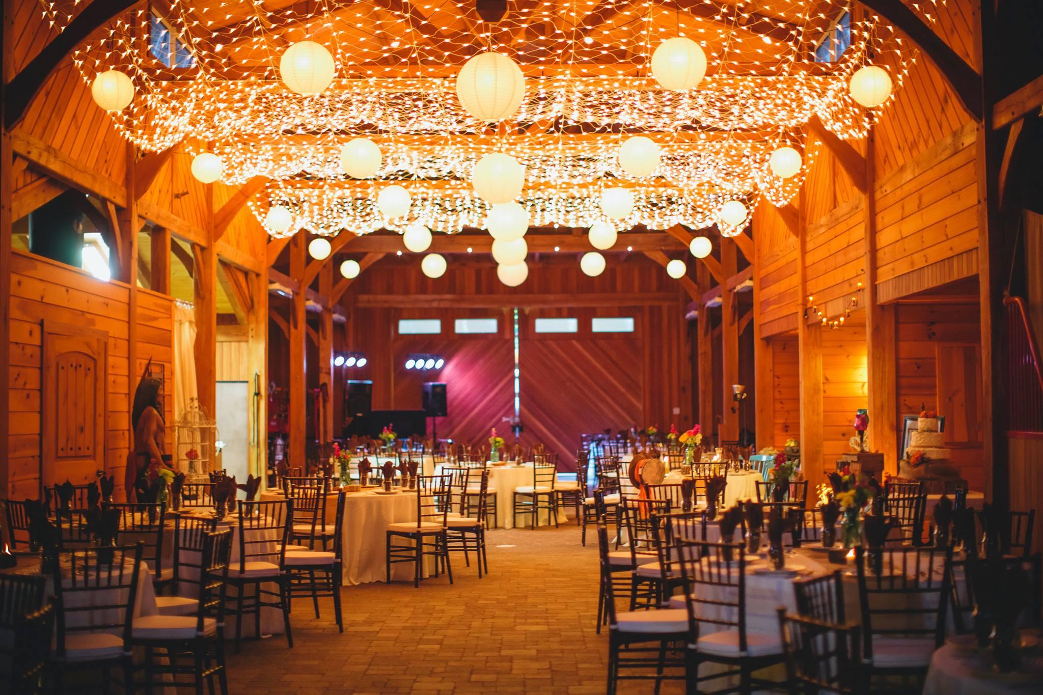 Barn Wedding Venue Lights
