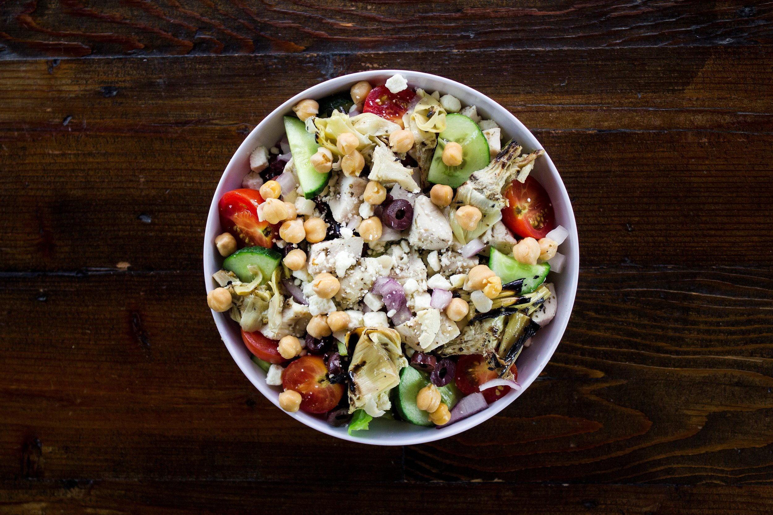 Vegan Greek Salad from The Shack at CityPlace