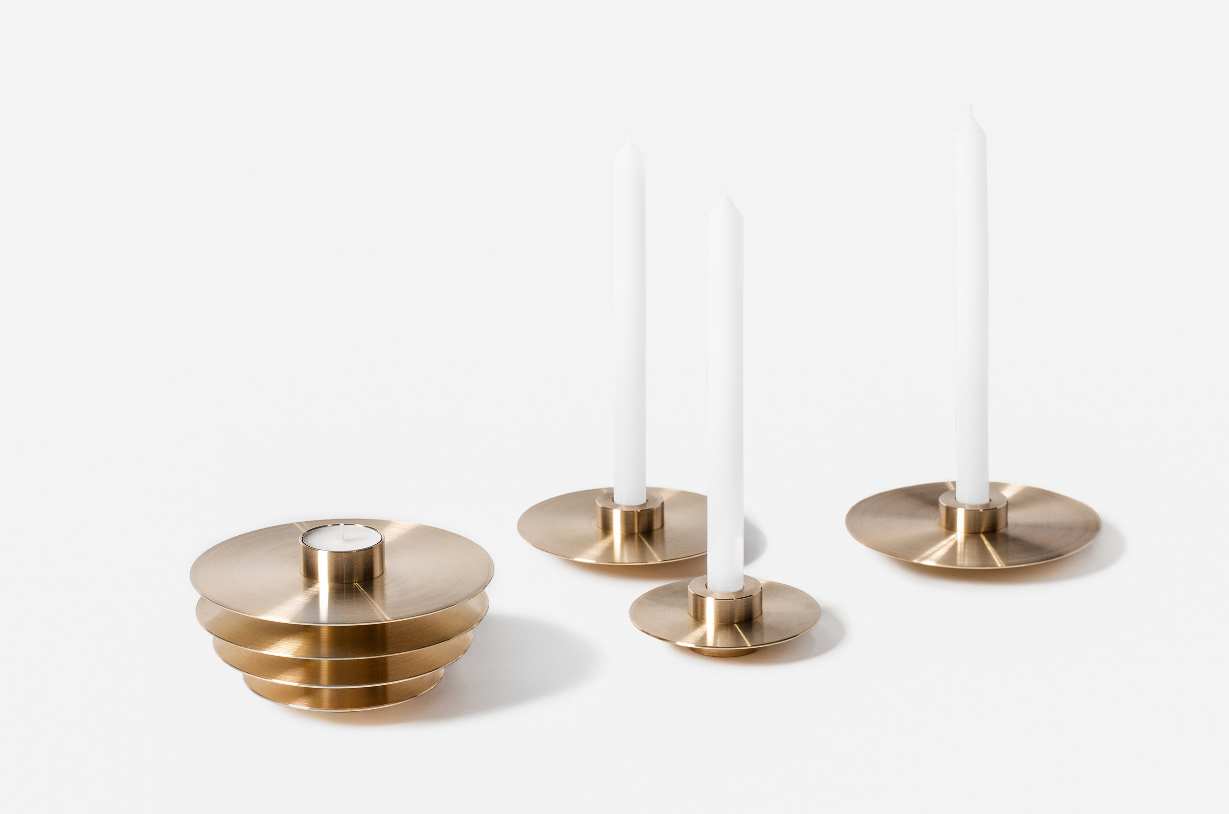 orb candle holders