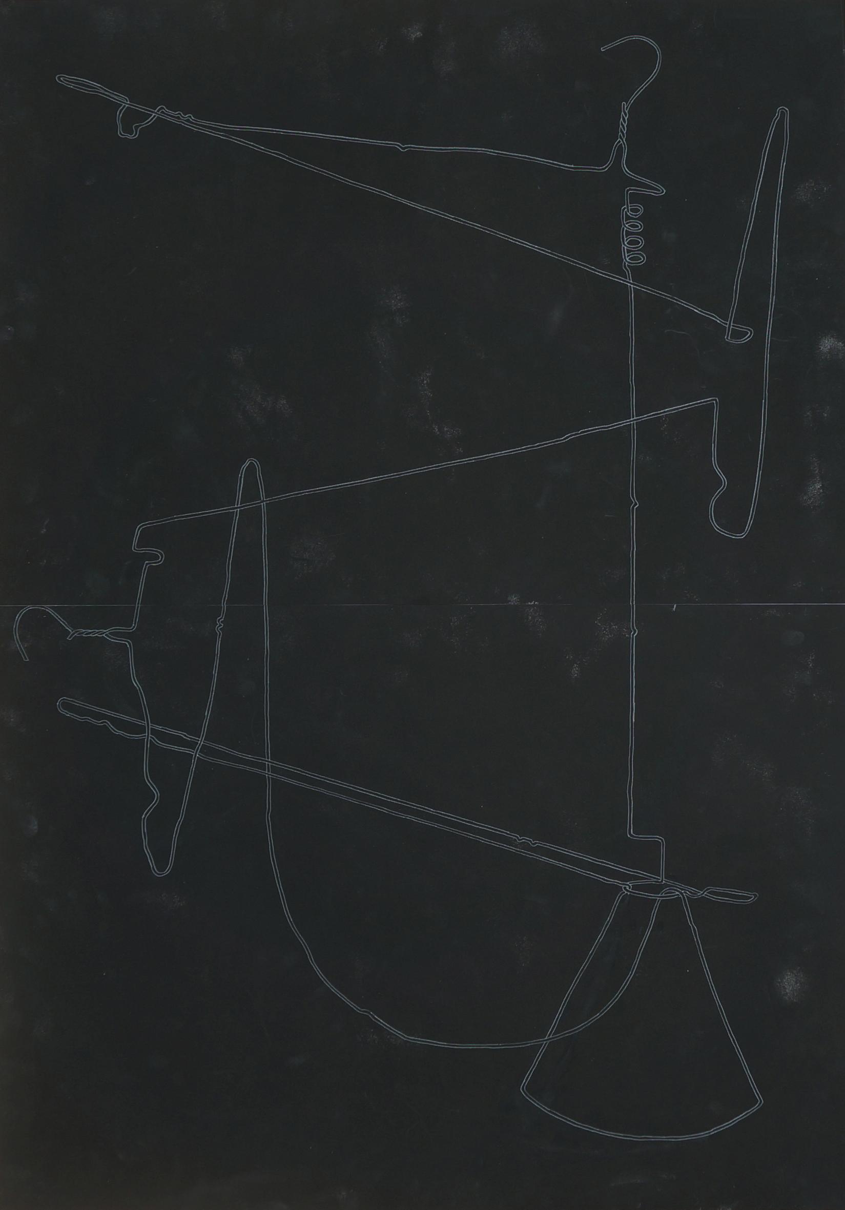 o.T.  Zeichnung, 100cm x 70cm, 2018