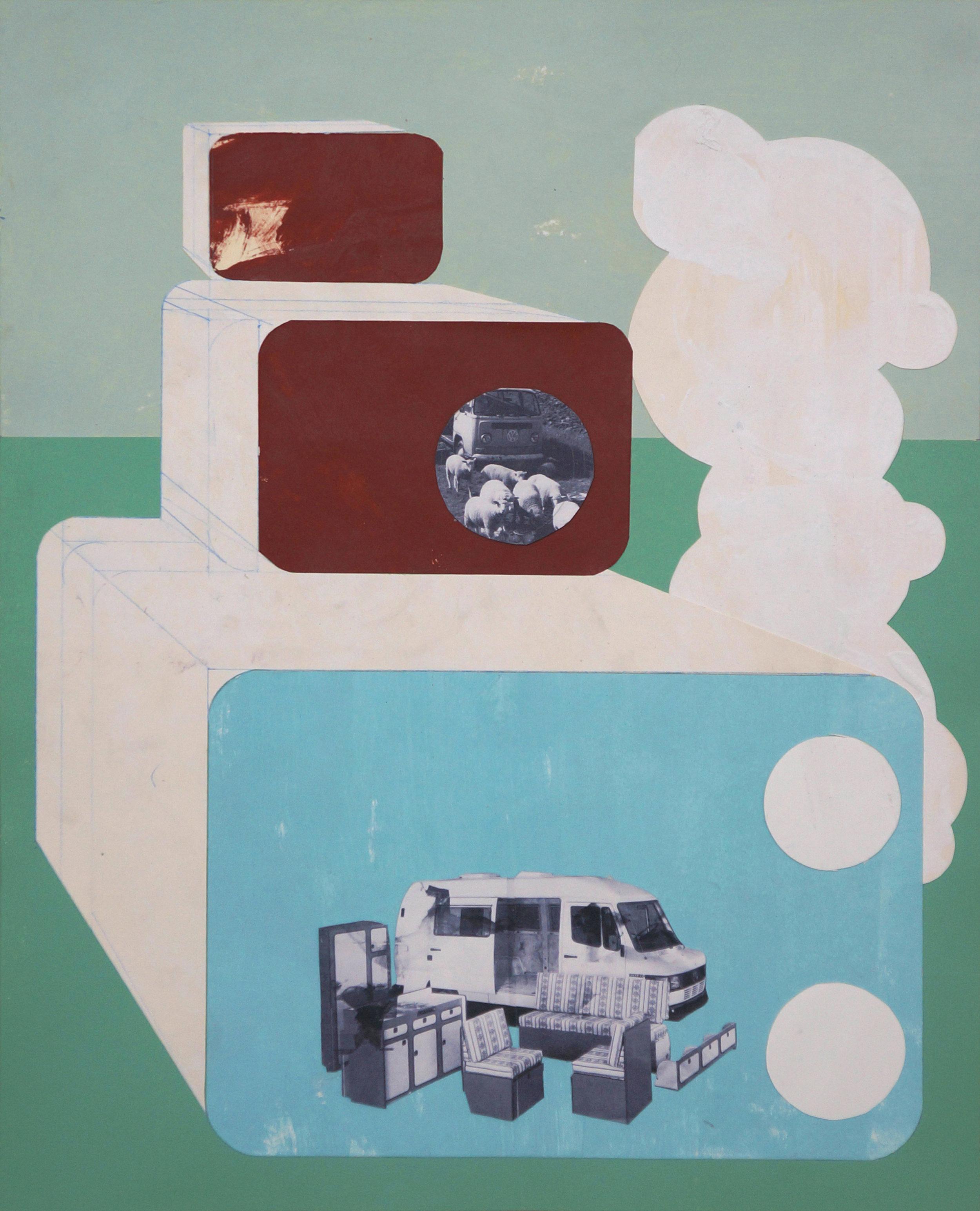 o.T.  Collage, 50cm x 40cm, 2015