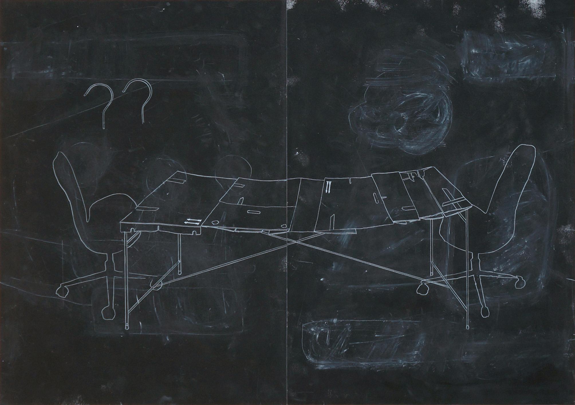 o.T. Zeichnung, 70cm x 100cm, 2017