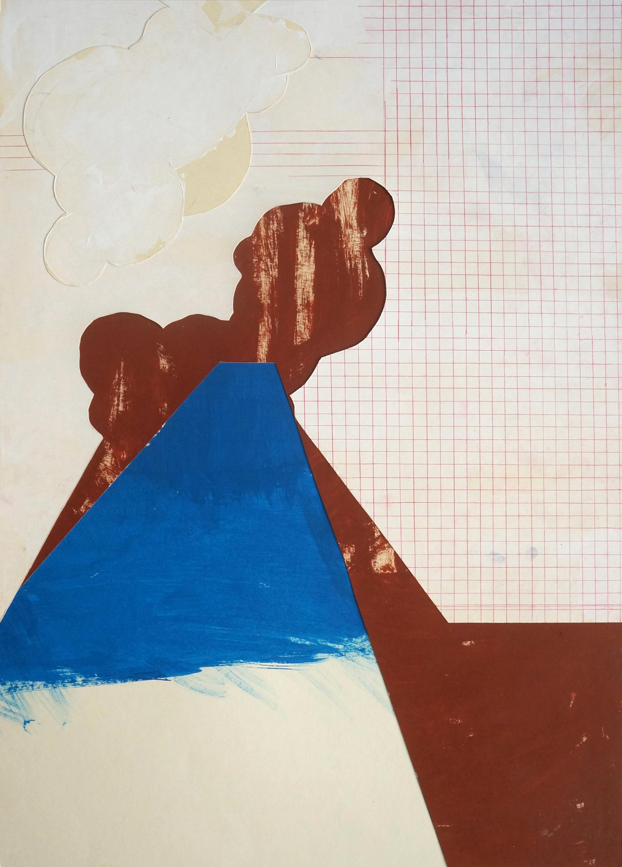 Fumerolles I  Collage, 70cm x 50cm, 2016