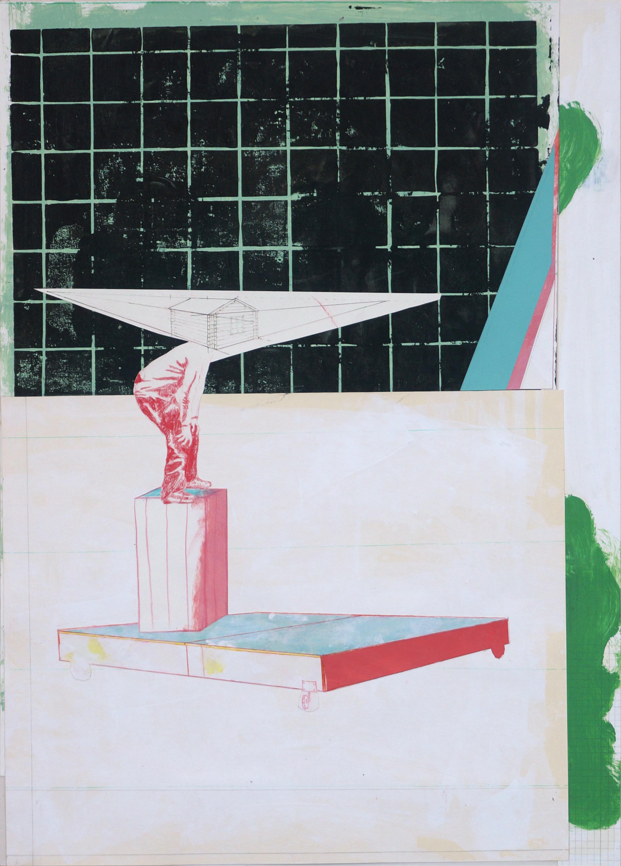 o.T.  Collage, 70cm x 50cm, 2016