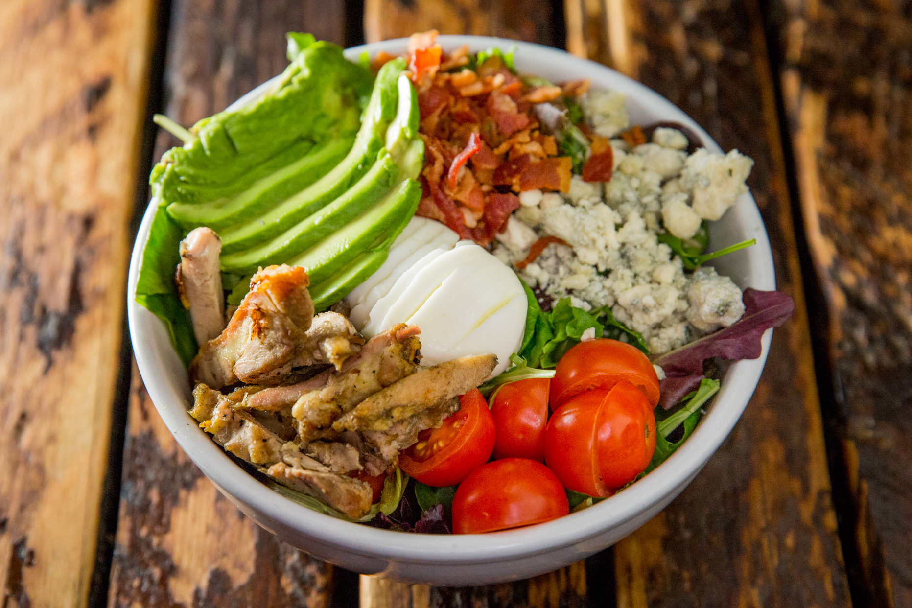 Chopped Salad with Grilled Chicken, Bacon and Avocado