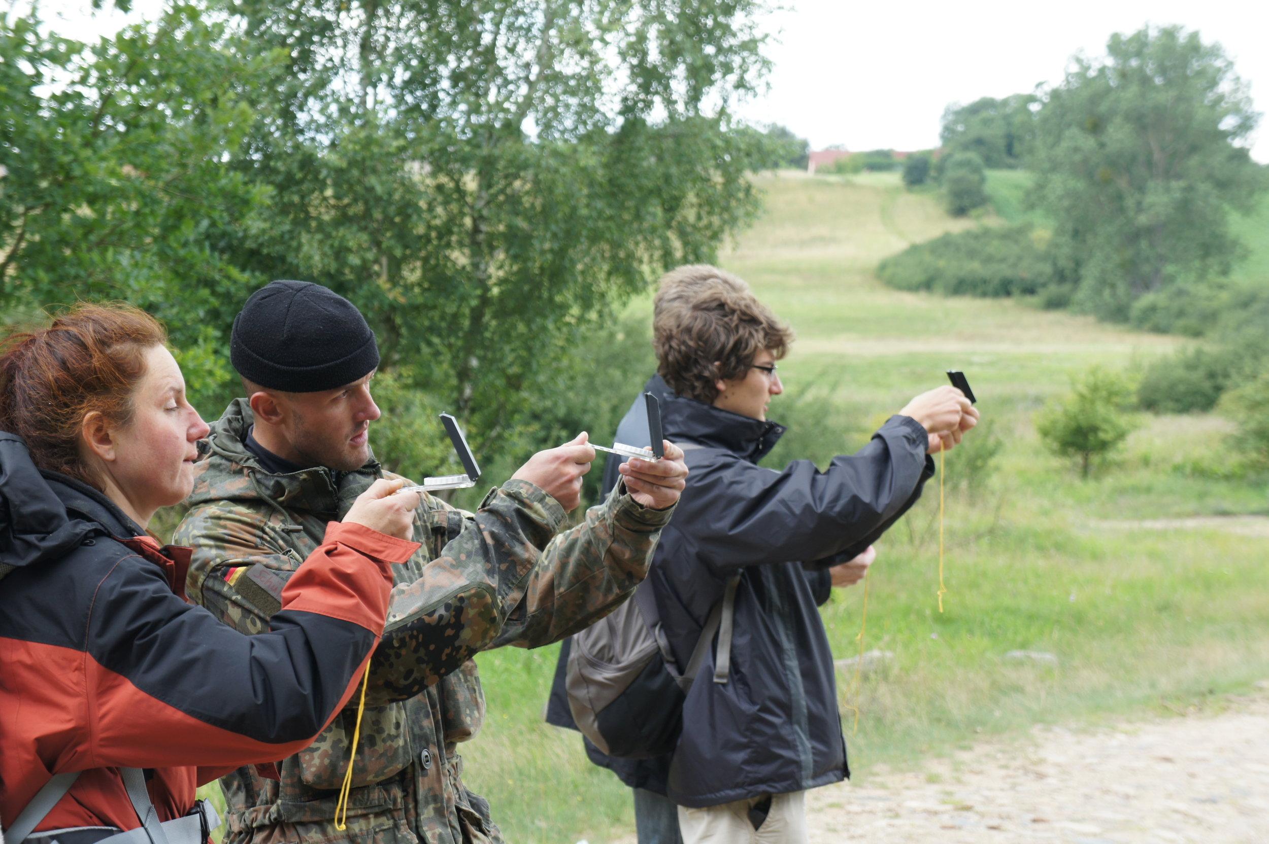 Orientierung beim Survival Kurs
