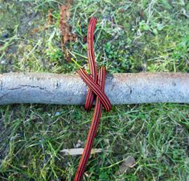 Outdoor Knoten für natürliche Fasern: Mastwurf