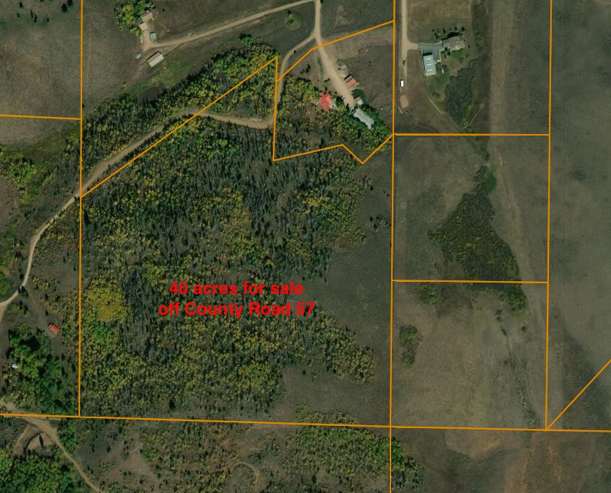 TBD County Road 57 - GRANBY - Awesome location! Close to town yet has privacy and seclusion. Amazing views to the east, lots of trees and 40+ acres allowing the right to drill a domestic well (watering of livestock and some outdoor irrigation). A perfect spot for your dream home. Listed for $299,000