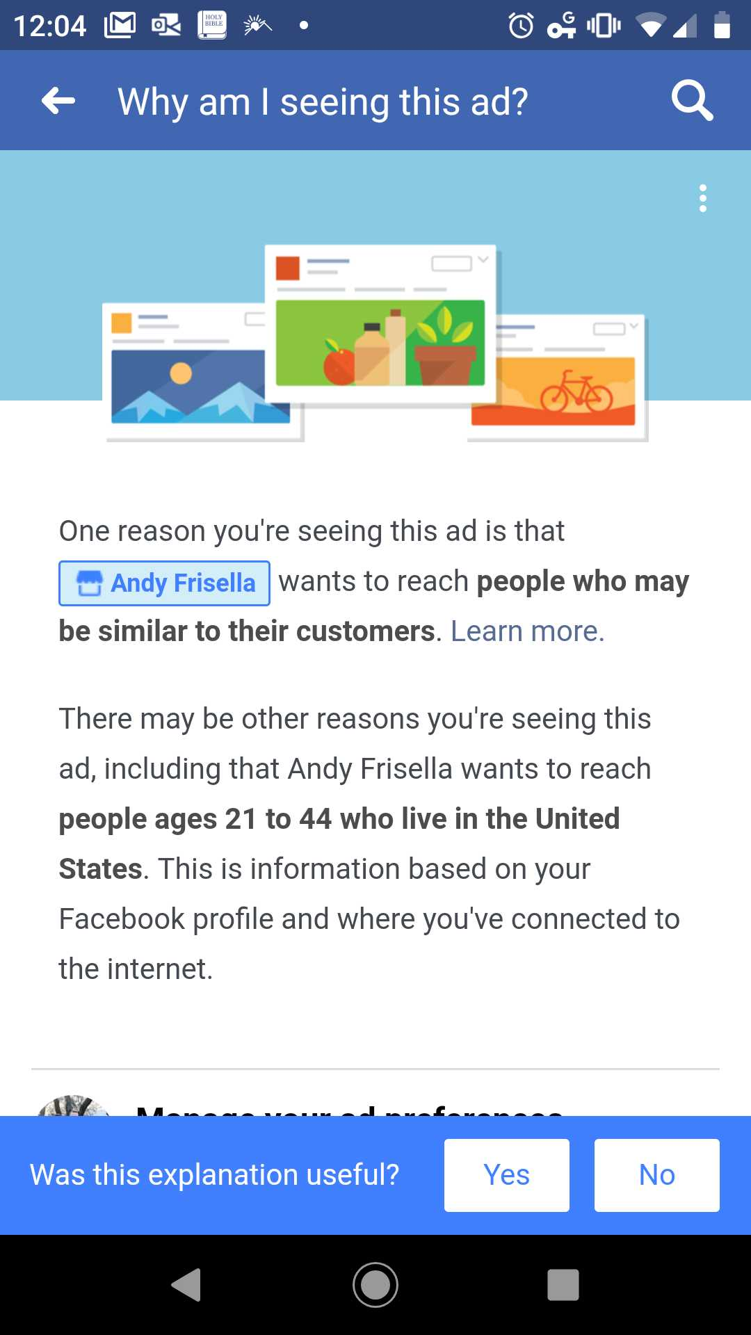 facebook ad information