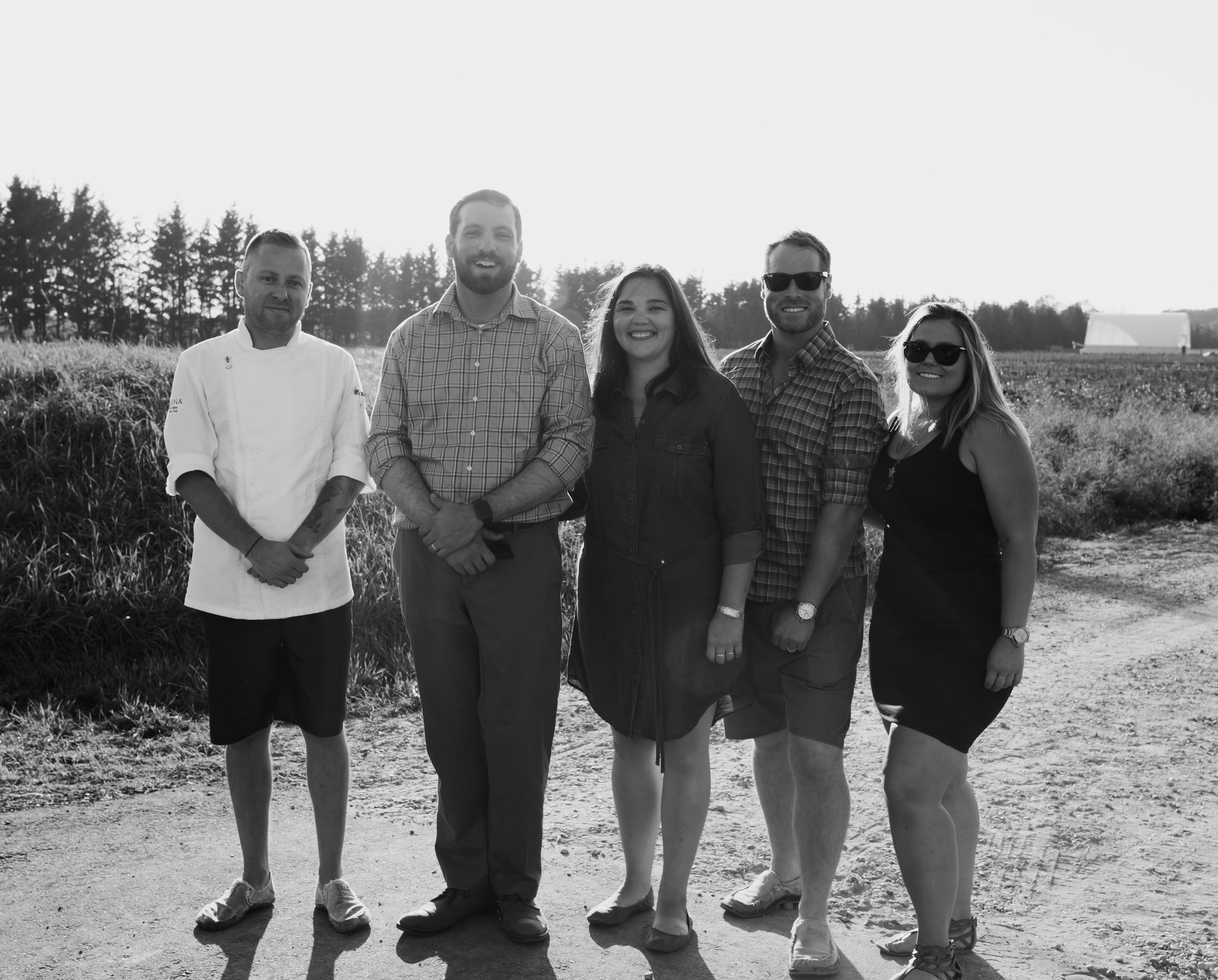Chef Randy Felker of  Rosina , Luke and Alison Charbonneau of  Hi-Berry Farm , Jeff Carver and Laura McInnes of  The Wismer House