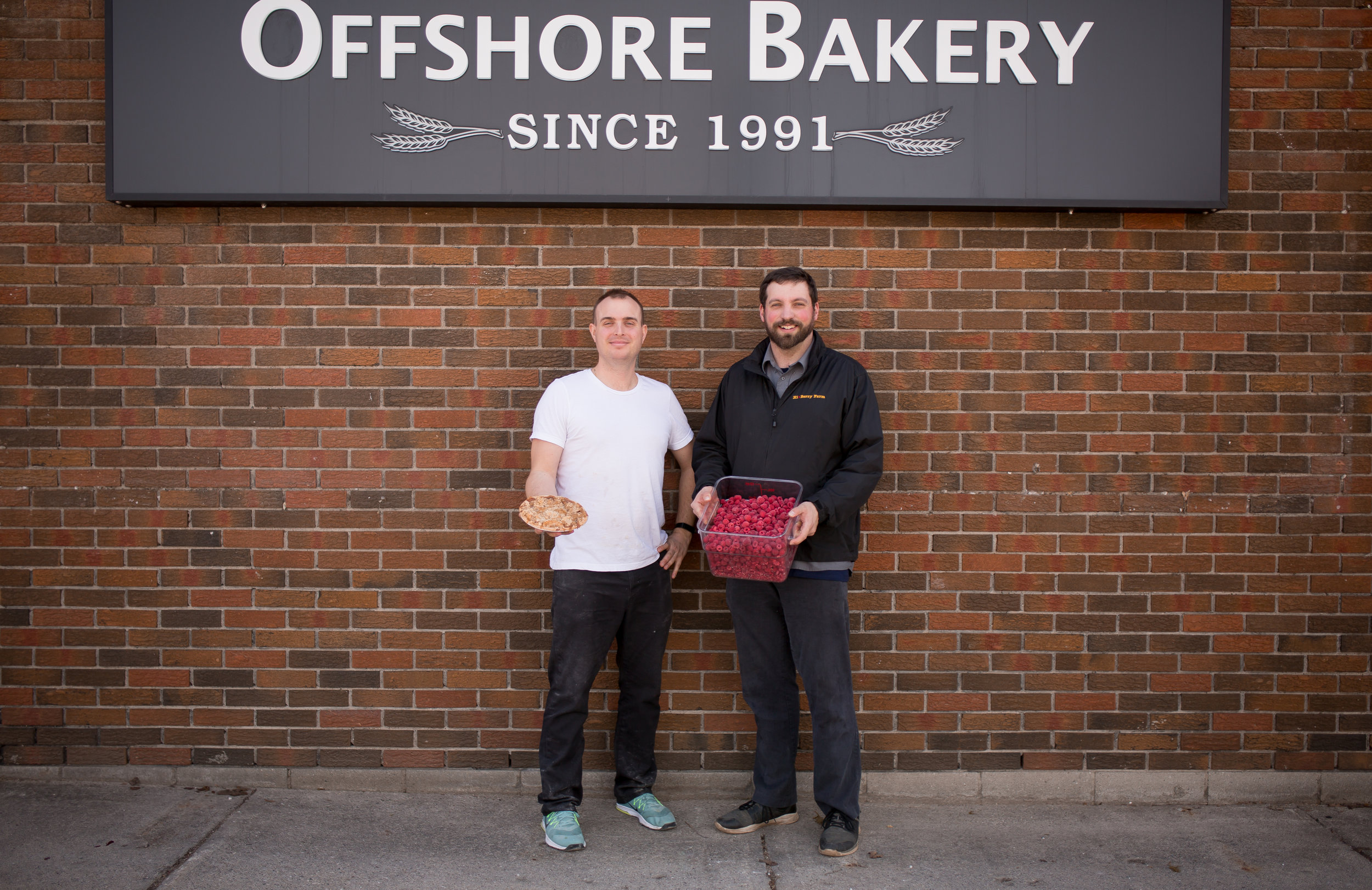 Justin Niklaus of  Offshore Bakery  and Luke Charbonneau of  Hi-Berry Farm
