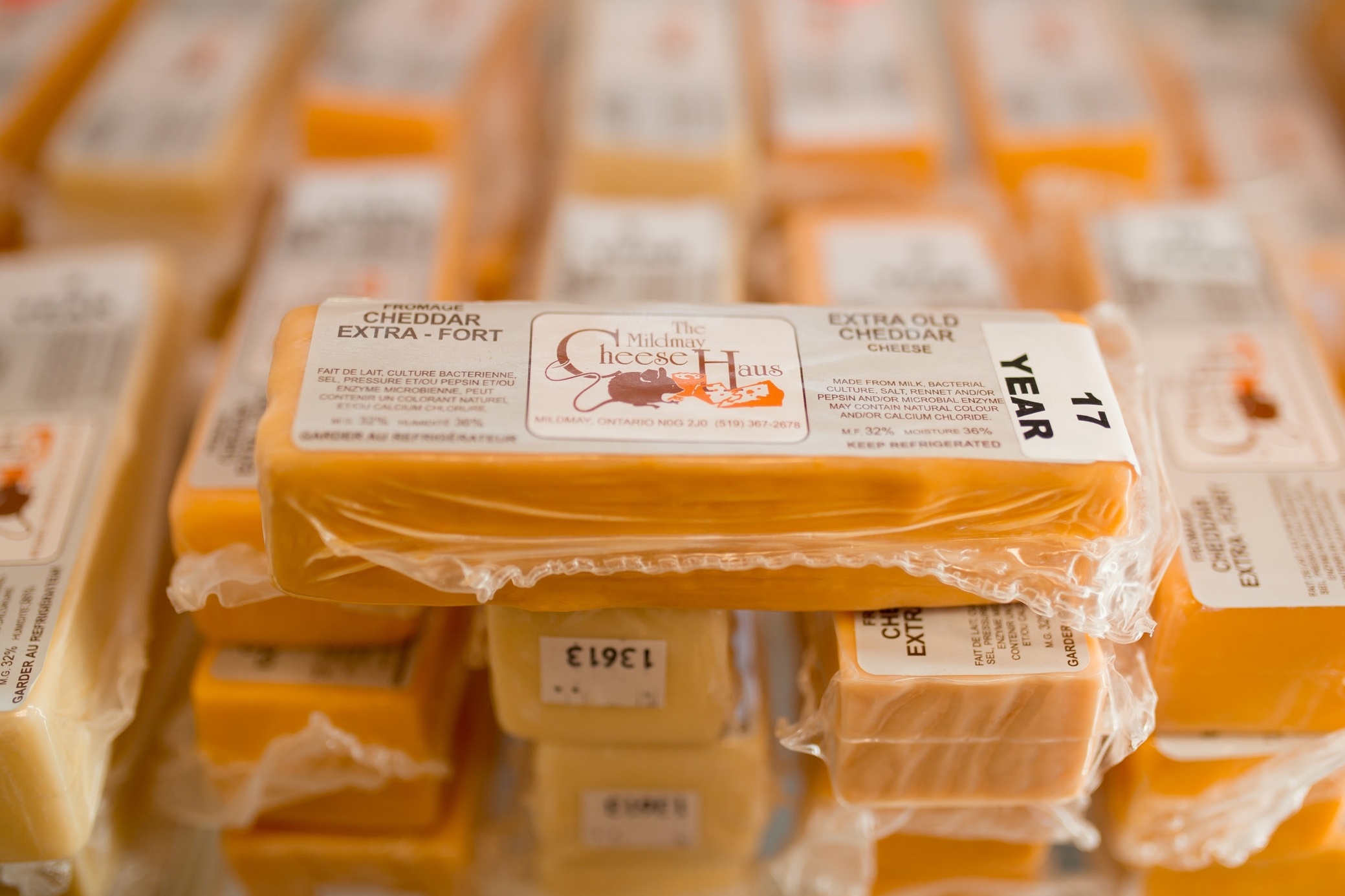 People come from far and wide to taste the aged cheddar at  The   Mildmay Cheese Haus