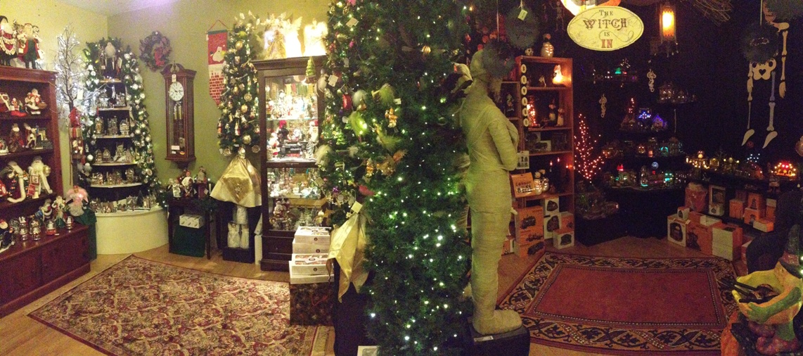 "Our ""Holiday Gallery"" holds year-round Christmas and Halloween displays"