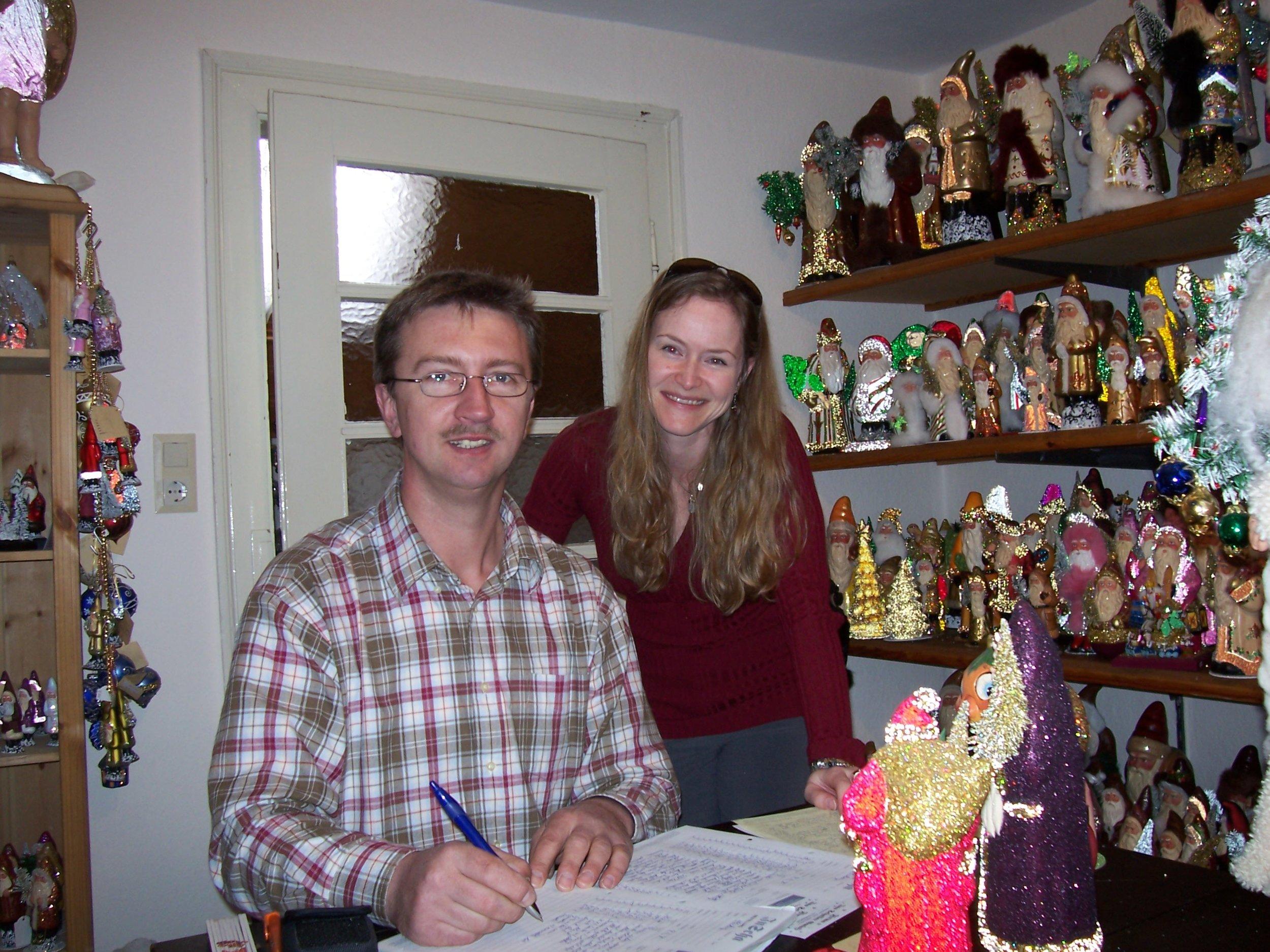 Loreen with Thomas Schaller - head of the Ino Schaller company.