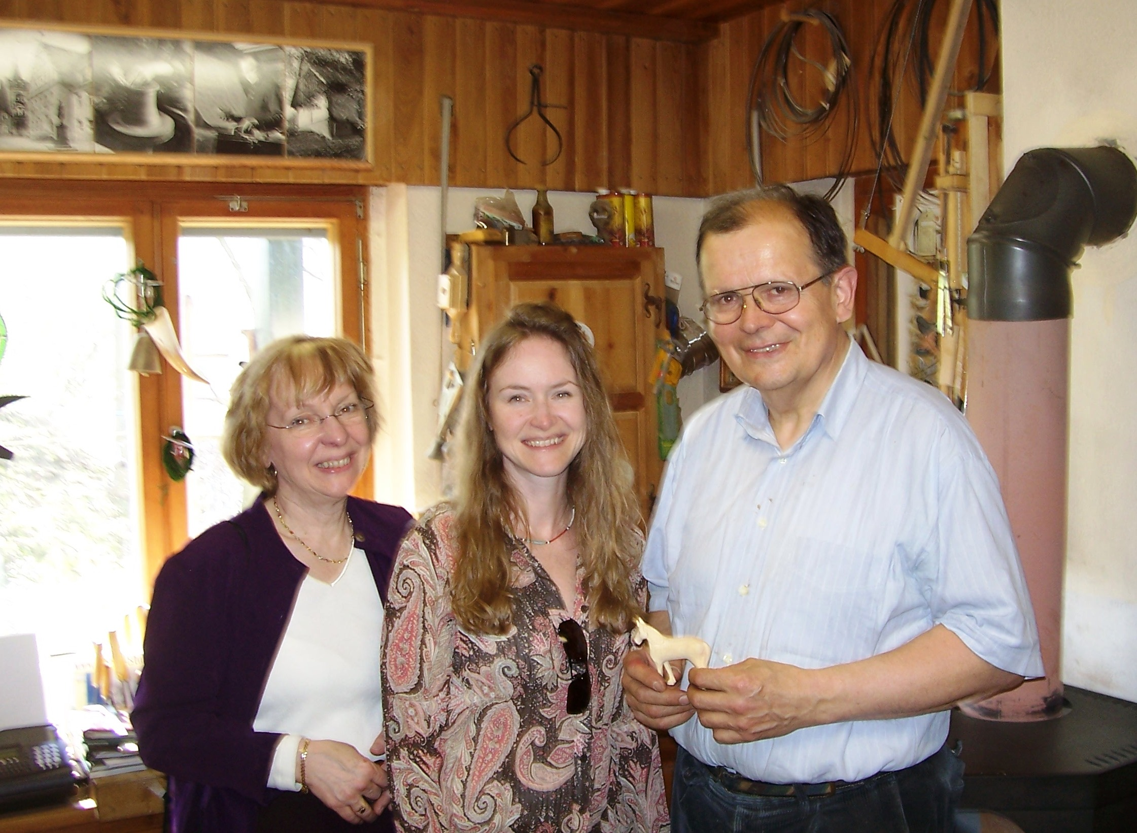 Norma and Loreen with Herr Steglich, crafter of some of our favorite Smokers