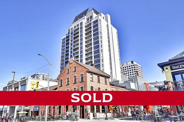 byward market 90 George Street, Unit #1307  $639,000  90 George Street is an icon in the ByWard Market offering an unparalleled location with the LRT right outside the door, and an amenity-rich building with expansive rooftop garden leading to pool, private gardens and gym. This 2-bedroom unit has bungalow-sized proportions with 1285 square feet of space. An uncommonly-sized kitchen for a condo is the perfect spot for preparing meals from the fresh produce available in the market steps away from the buildings front door. The dining room is large enough for a grand dinner party and has views in 3 directions. This room is open to the adjacent living room with a large window and ample wall space for art and furniture placement. After a long day of exploring everything that downtown Ottawa has to offer, the master bedroom suite is a welcoming retreat with its walk-in closet and indulgent ensuite with soaking tub and roomy shower. A second bedroom has easy access to a full bathroom. A nicely sized balcony has sweeping views of downtown.  This home is now sold. For more information, please contact Dominique Milne and Lyne Burton. *Price displayed is list price, not sale price.*