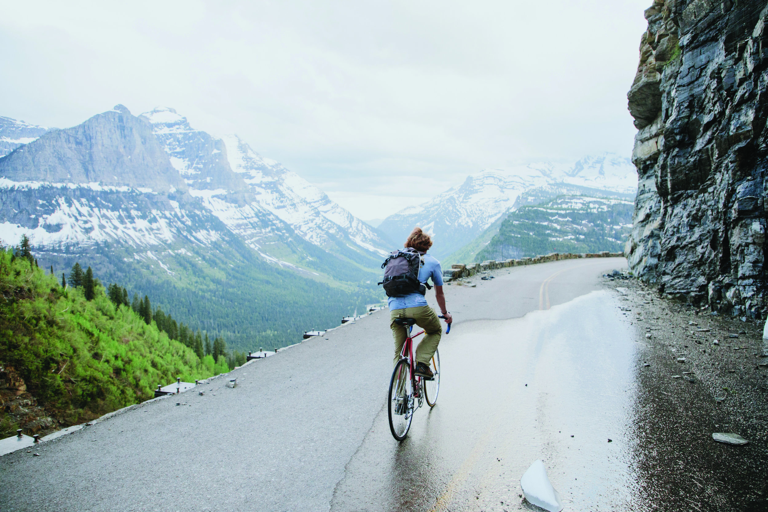 Maybe one of the most famous roads in North America, the Going to the Sun road in Glacier National Park is open to bikers before it completely opens to vehicle traffic. The effort can be excruciating but it gives you a great chance to stretch your legs after the long winter months; having the views to yourself are an added benefit.