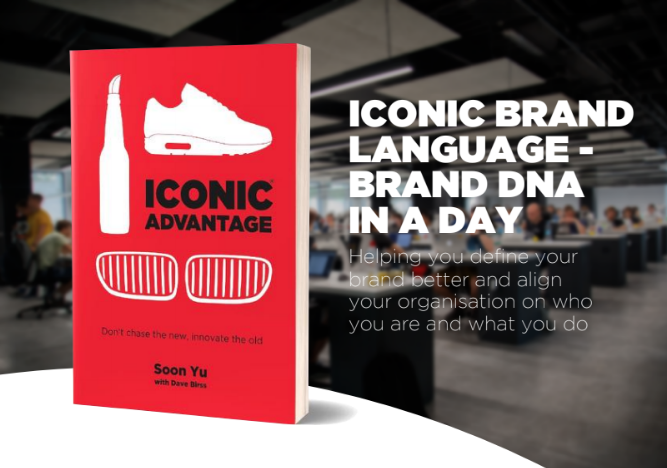 iconic advantage iconic brand language Brand dna in a day workshop
