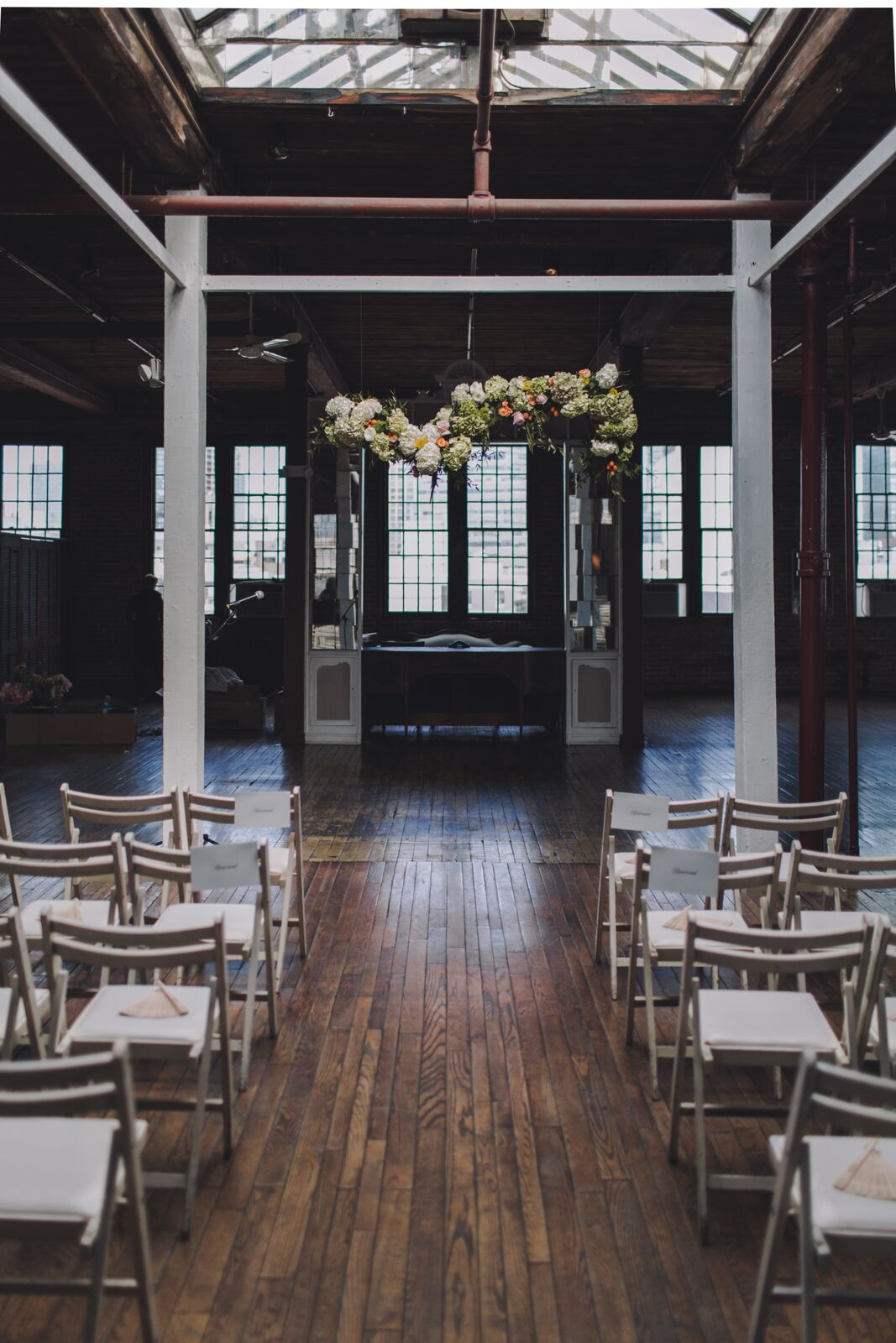 Ryan and Alex Industrial Metropolitan Building Long Island City Bride and Groom Couple Sustainable Eco-friendly wedding celebration venue