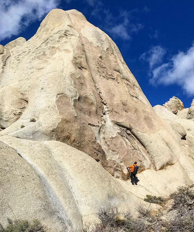 After years of leading others, it's nice to be led. I've climbed with @budkeene144 before, but those missions were just a taste of what is to come in the next few years. It is an exciting honor to be shown the ropes by such an accomplished climber. Lesson #1, Don't Fall. #buttermilks #rockclimbing #lead #outdoors