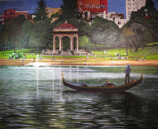 Lake Merrit 10x15' acrylic on canvas SOLD