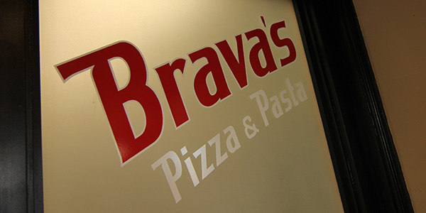 Specials - Brava's Logo on Glass