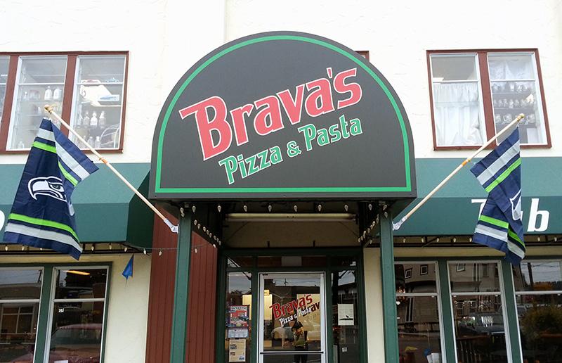Bravas' Front Awning