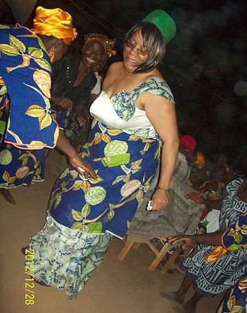 Yvette dancing at her wedding celebration in Cameroon!
